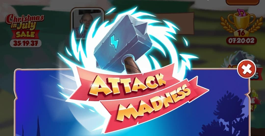 Read more about the article Attack Madness: Stack spins, XP and coins