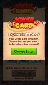 choose joker card