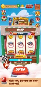 over 50 players can now raid you in coin master