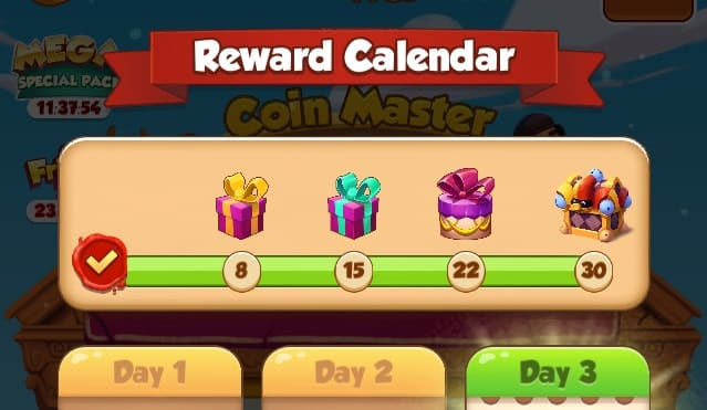 Rewards Calendar Coin Master