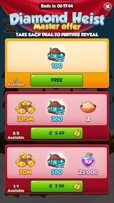 Diamond heist 3 offers