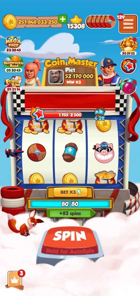 Coin Master lost all spins. What to do.