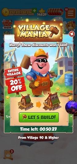 Village Mania 20 percent discount
