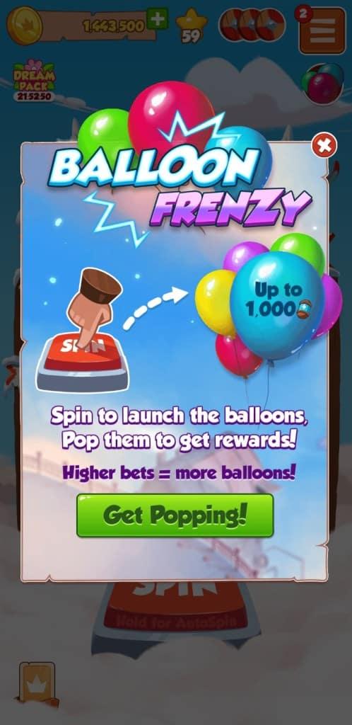 Coin Master Balloon Frenzy