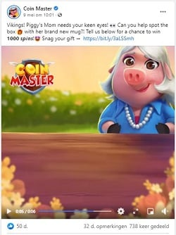 Free Spins on Coin Master Facebook and Instagram posts