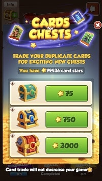 Trade stars for chests